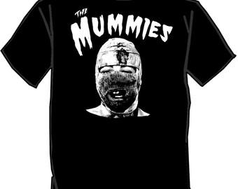 THE MUMMIES silk screened t-shirt SCREENPRINTED punk shirt Budget Rock garage