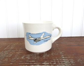 Vintage Rockwell B-1 Lancer Airplane Mug, Vintage Aviator Coffee Cup, USAF Fighter Jet Mug