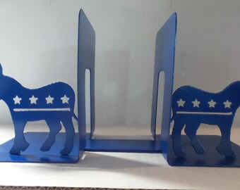 Democrat Donkey, Democrat Party Logo, Democrat Donkey Bookends, Metal Bookends