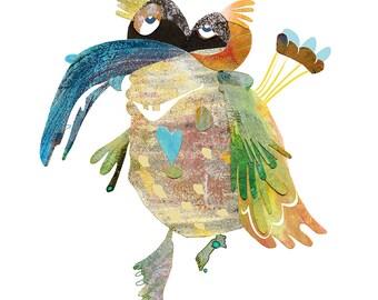 Art Print A4/A3   parachute-bird   Martina Lengers