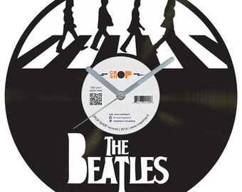 The Beatles vinyl clock v3