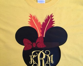 Indian Minnie Mouse Monogram