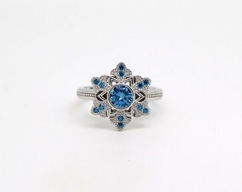 Elsa Frozen ring inspired in the movie and made with sterling 925 silver