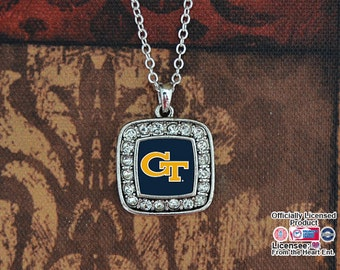 Georgia Tech Yellow Jackets Square Necklace