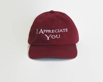 Vintage Baseball Hat,Tumblr Hats, I Appreciate You,Distressed Hats,Dad Hats,Tumblr,Trending Hats,Baseball Hat