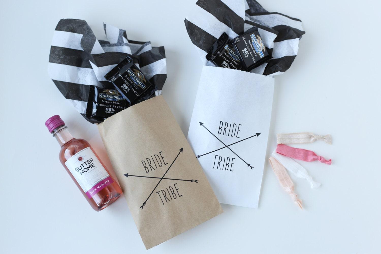bride tribe favor bags bachelorette party bags
