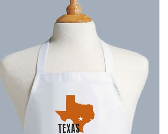 Texas Apron, University of Texas,  Texas Decor, Texas gift, Longhorn,  Hook em, austin, texas