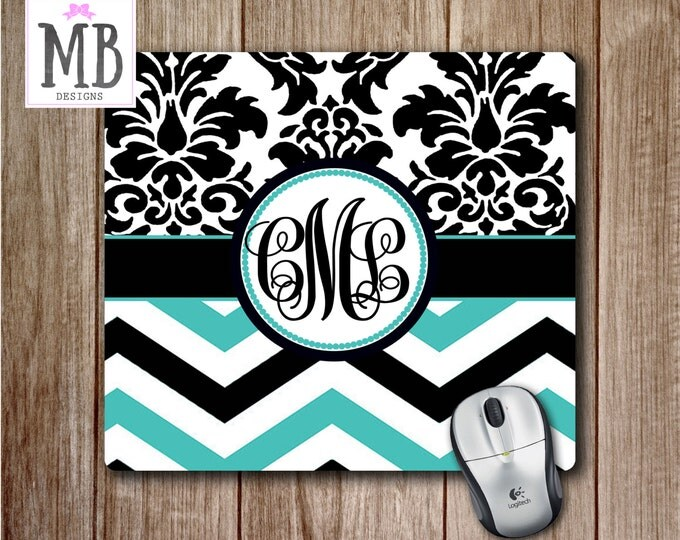 damask office accessories. teal chevron mousepad damask print mouse pad cute desk accessoriesteal and black office accessories e