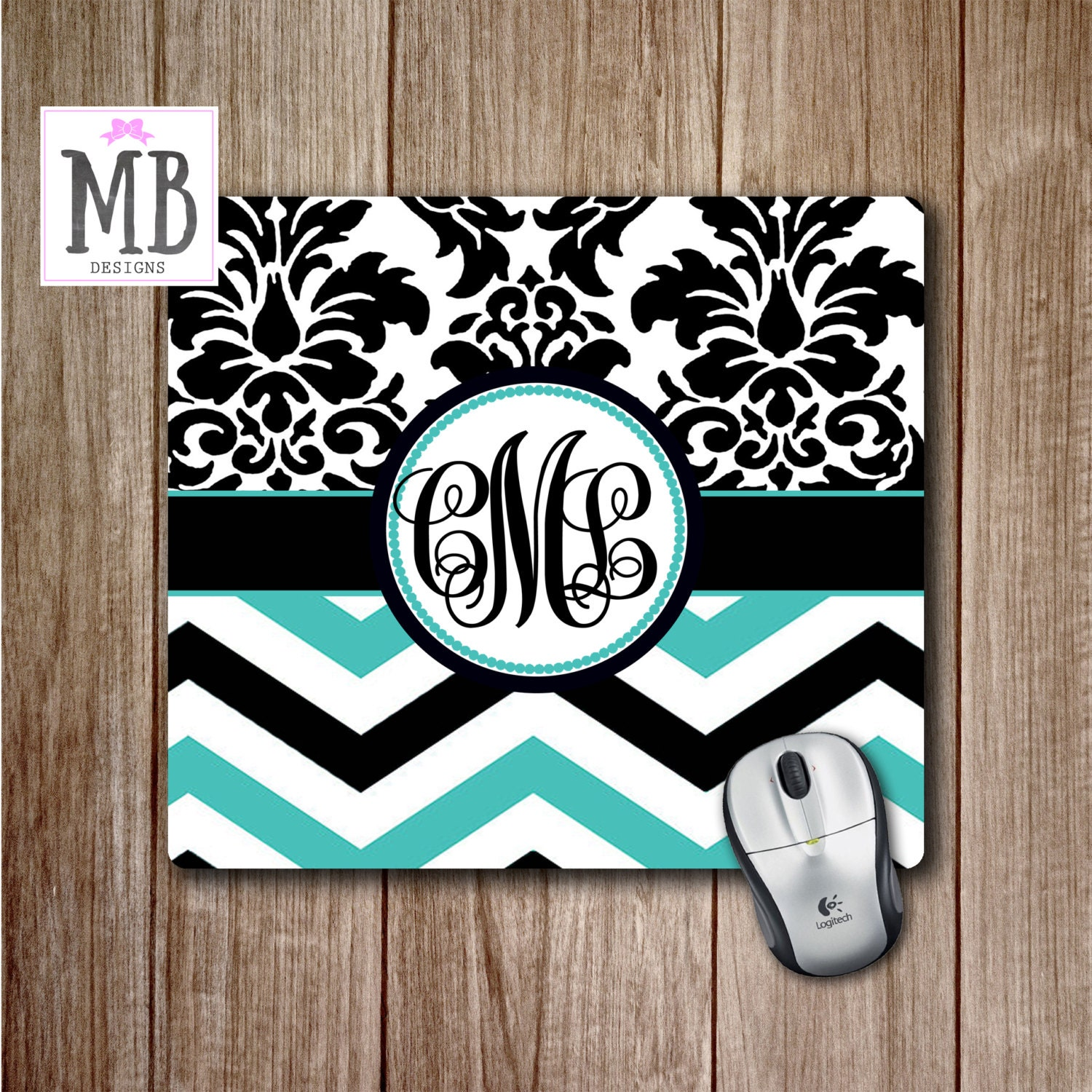 damask office accessories. Teal Chevron Mousepad, Damask Print Mouse Pad, Cute Desk Accessories,Teal And Black Room Decor, Office Accessories