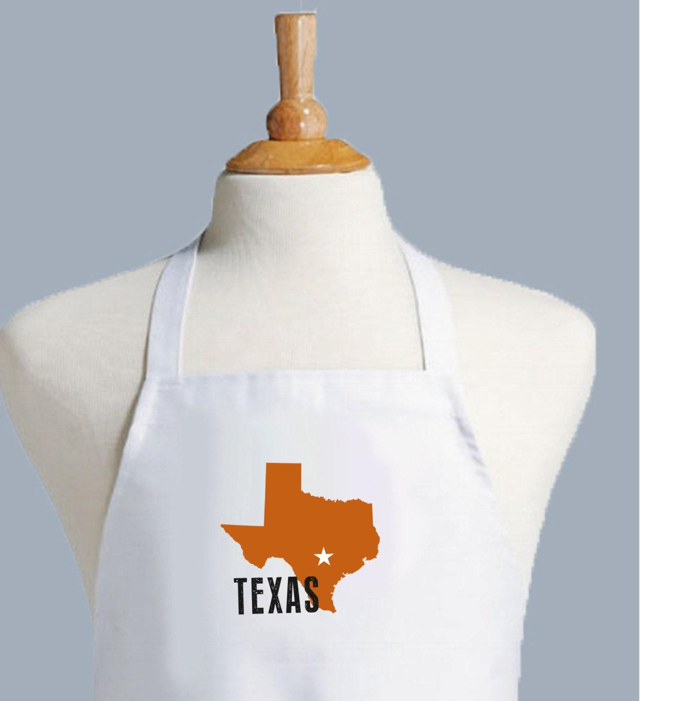 White apron austin - Texas Apron University Of Texas Texas Decor Texas Gift Longhorn Hook Em Austin Texas