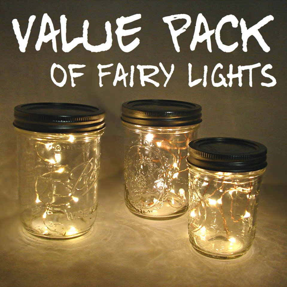 Value Pack Fairy Lights For Mason Jars And Centerpieces You