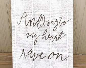 Wonderful Newsprint Quote Art Black And White Quote Home Decor Modern Wall Art Canvas  Quote Art Motivational Part 10