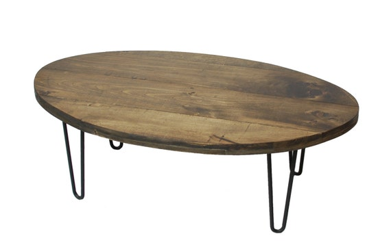 Table basse industrielle en ovale r cup r par sumsouthernsunshine - Table basse ronde ou ovale ...