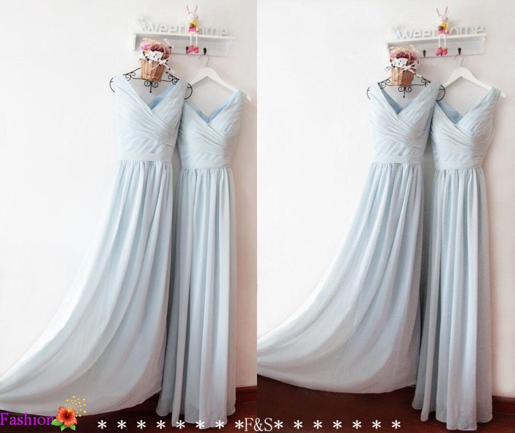 Prom dress vintagebridesmaid dressesdusty blue bridesmaid zoom ombrellifo Images