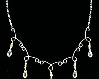 Hand Formed Tear Drop Necklace
