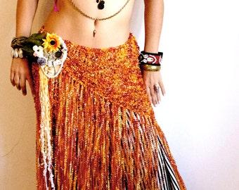 Belly dance scarf, Hip Wrap, Hip Scarf, Bellydance belt, Tribal Fusion Belt, Dancing Shawl, Fringe Scarf, Bellydance costume, Flamenco shawl