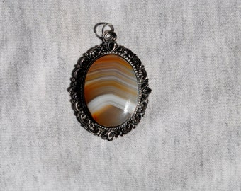 Banded Agate Pendant