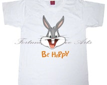INSTANT DOWNLOAD - Iron on Transfer-  Printable Tshirt design - Fabric transfer - Pillow Design - Bugs Bunny - M268