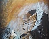 Wall Art, Print, Angel, P...