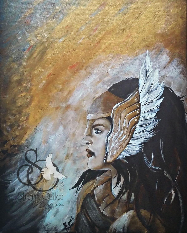Wall Art Print Angel Prophecy Giclee Print Prophetic