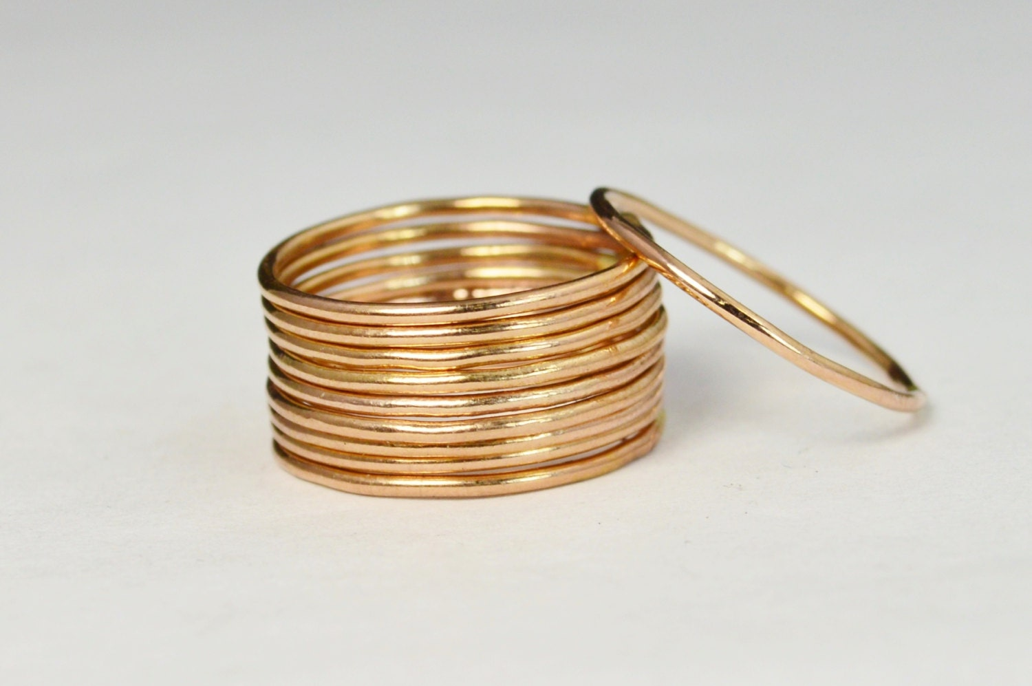 thin round 14k rose gold filled stackable rings stacking. Black Bedroom Furniture Sets. Home Design Ideas