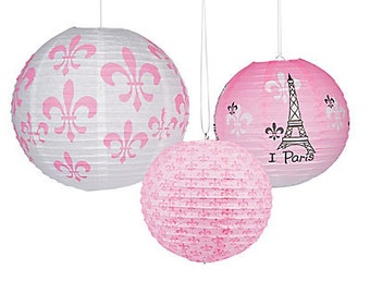 Paris Paper Lanterns