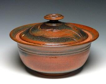 Extra Large Covered Bowl, Pottery Casserole, Stoneware Baking Dish, Lidded Bowl, Ceramic Bowl