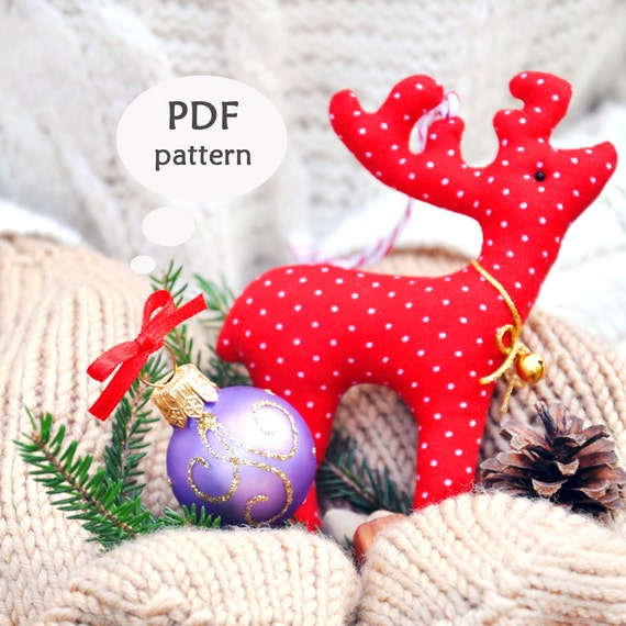 Reindeer Sewing Pattern. Christmas Sewing Projects. Deer