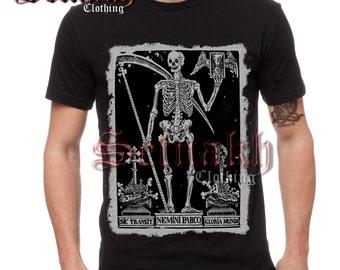 Occult men's T-shirt - DEATH THE REAPER - Skeleton T-shirt - skull T-shirt - Santa Muerte T-shirt - gothic fashion - occult clothing #TS5