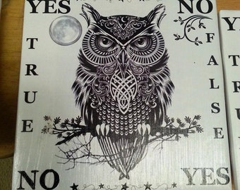 """Pendulum Board - """"Witchy Wise Owl"""", Sprit board, Familier"""