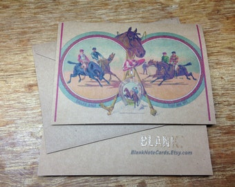 Horse Race Note Card