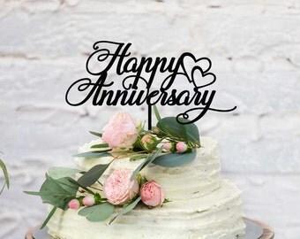 Wedding Anniversary Acrylic Cake Topper - Happy Anniversary (ARC1668) MADE IN Australia