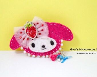 Handmade Wool Felt Melody Hair Clip