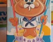 Vintage Avon Barney Beaver Toothbrush Holder