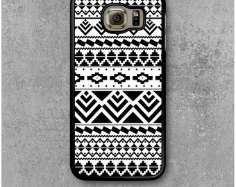 Samsung Galaxy S6 Case Black White Ethnic Tribal