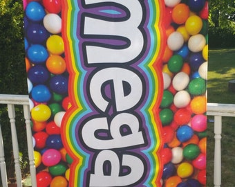 "Personalized Beach Towel 30"" x 60"" // Personalized Gumball Towel // Beach Towel // Personalized Rainbow Gumball // BT1003"