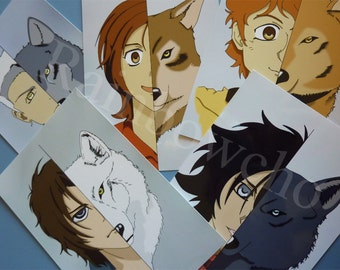 Lot of 5 photos fanart Wolf