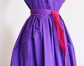 Vintage 80s Townhouse Petites Khaki Dress - size 10 petite