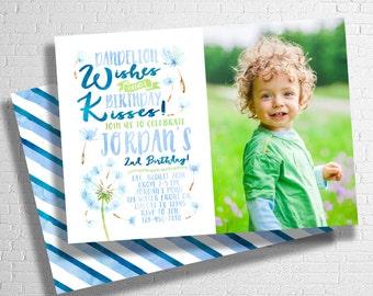 Dandelion Birthday Invitation | Dandelion Wishes Invitation | Summer Birthday Invitation | Dandelion | Flower | DIGITAL FILE ONLY