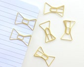 Set of 2 Gold bow paperclips