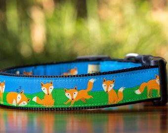 Fox Family Dog Collar / XS-XL / Australian Made Dog Collar