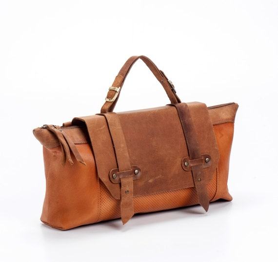 Brown Leather Tote Bag  / Women Purse / Camel Leather Handbag / Lined Crossbody Bag / Shoulder Bag / Boho Chic Bag / Top Handle Bag - Galaxy