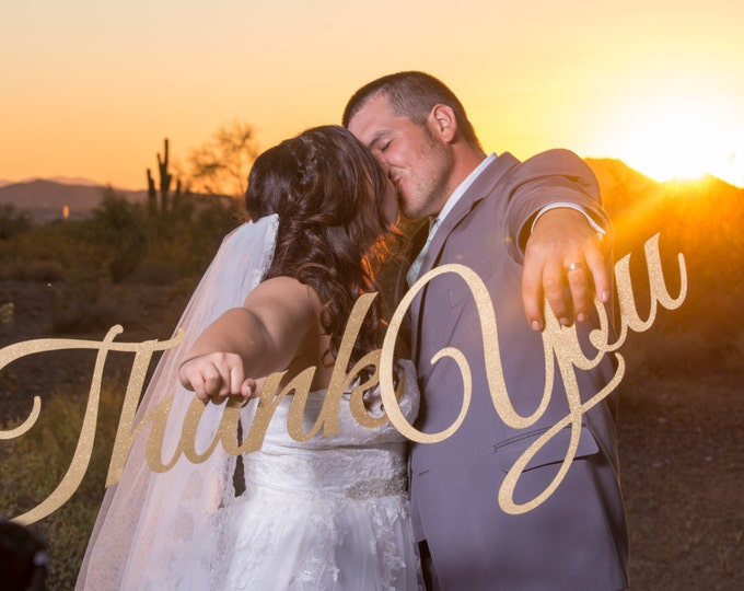 Thank You Wedding Cards Sign, Thank You Prop, Wooden Rustic Sign, Thank You Banner, Mahalo Sign, Wedding Photo Prop, Photography Photo Booth