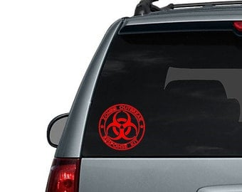 Zombie Outbreak Response Kit Decal - Car Decal Sticker