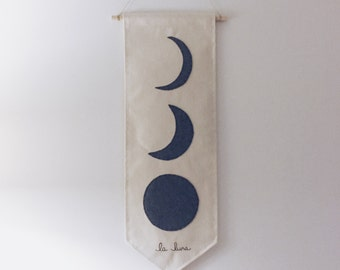 MOON PHASES Canvas Wall Hanging