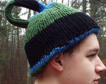 Custom Made Klein Bottle Hat, Winter Hat, Geek Gift, Geekery, Math Gift, Mathematician, Scientist, Hand Knit Hat, Handmade Hat, Topology Hat