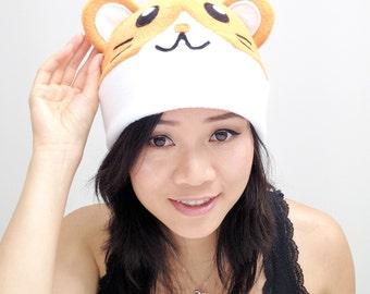 Hamster Beanie Hat - Hamster cosplay hat - Hamster Halloween Hat - Hamster costume - Animal Hat - Hamster Gamer Hat - Chrismas Gift Idea