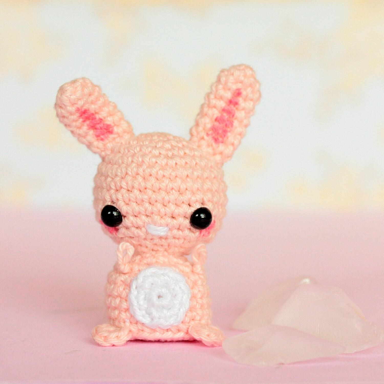 Amigurumi Bunny Ears : Crochet bunny amigurumi Kawaii bunny stuffed animal Kawaii