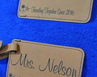 Wedding Gift ~ Luggage Tag ~ Leather Tag ~ Bride And Groom Tag ~ Destination Wedding ~Travel Gift ~ Vacation Gift ~ Travel Gifts ~ Wedding
