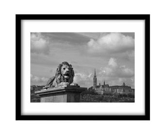 Budapest, FREE SHIPPING, large wall art, black and white photography, fine art photography, black and white prints, fine art print